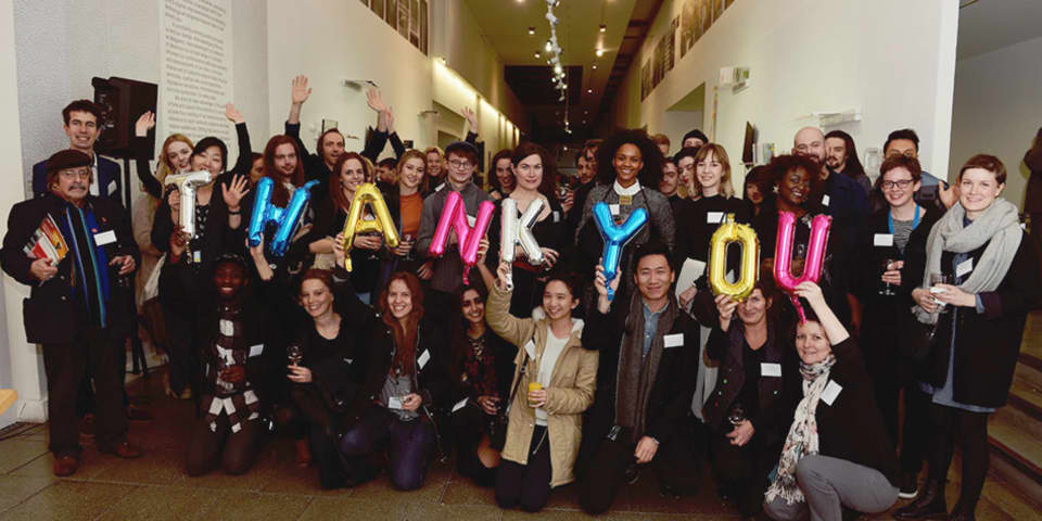 Students celebrate at the UAL Benefactors' Reception