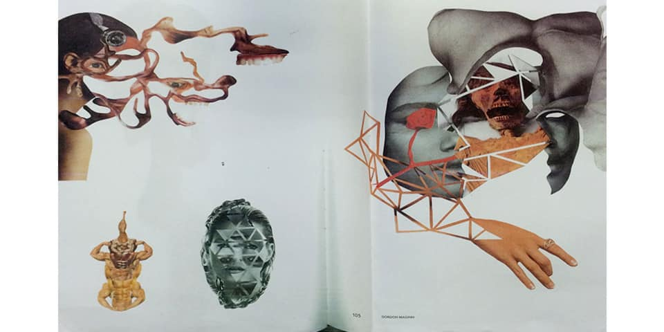 Image of student collage work - showing heads