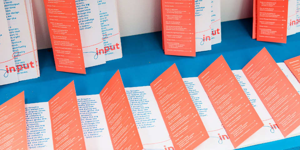 Confident Copywriting short course at LCC - image of leaflets in bright colours