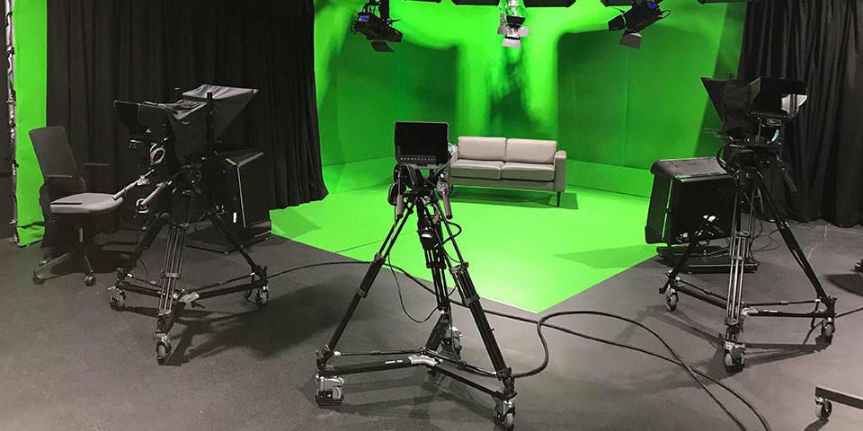 DSLR Filmmaking short course at LCC & Global Academy - image of a live tv studio