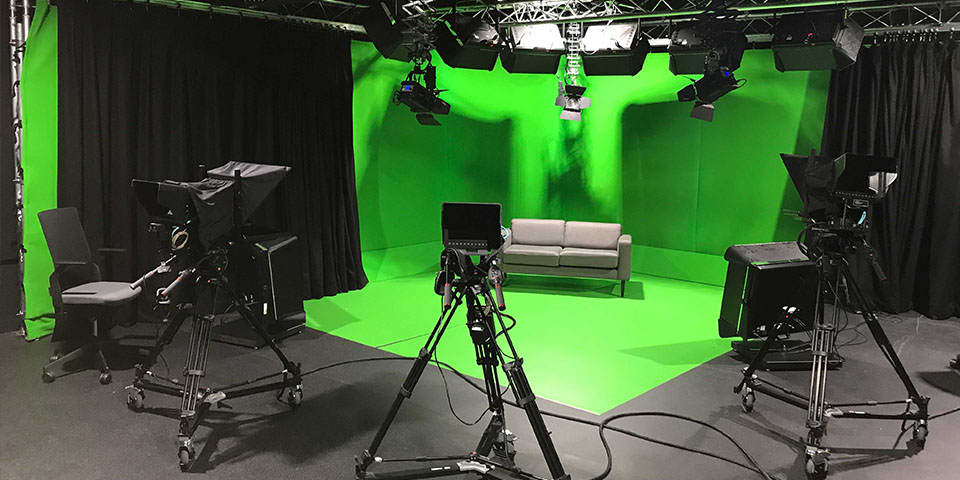 LCC Short Courses delivered with Global Academy - image of a live TV broadcast studio