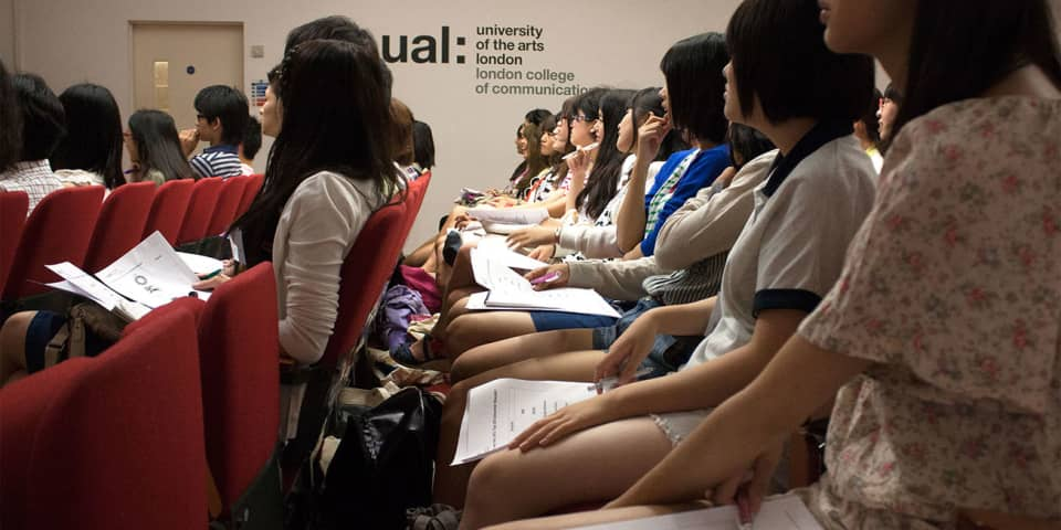 Osaka Students in lecture
