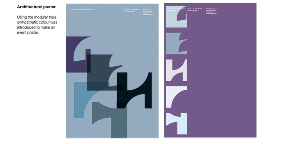 Student work: Poster designs exploring typography and colour