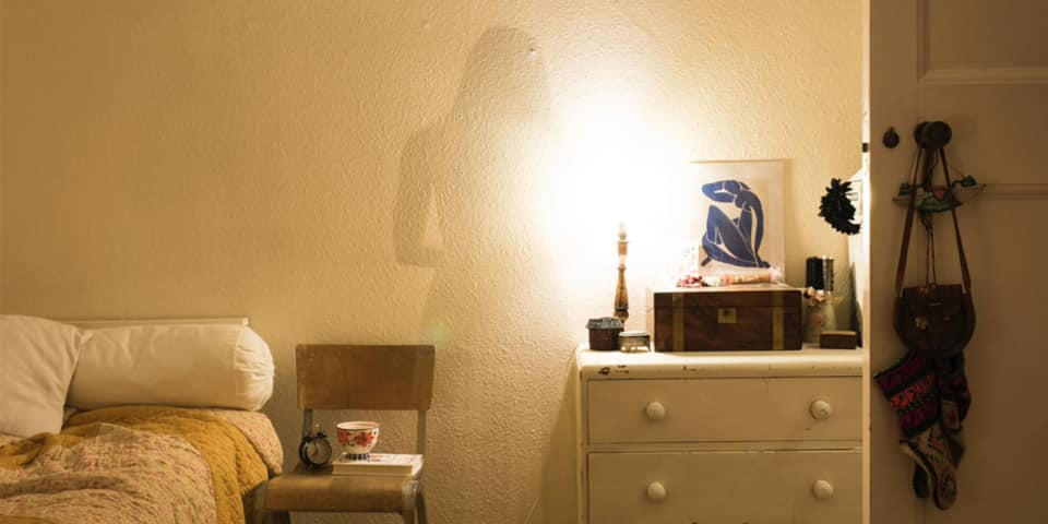 Magnum Documentary Short Courses at London College of Communication - Image of shadow of a woman on a bedroom wall.