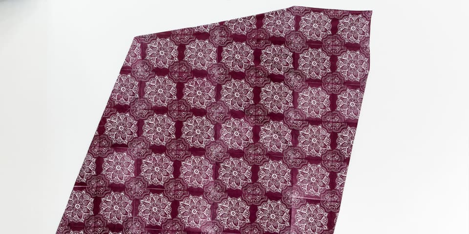 Maroon printed fabric
