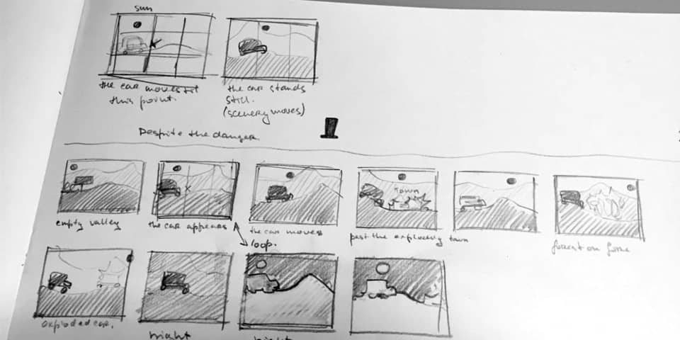 story board drawn out