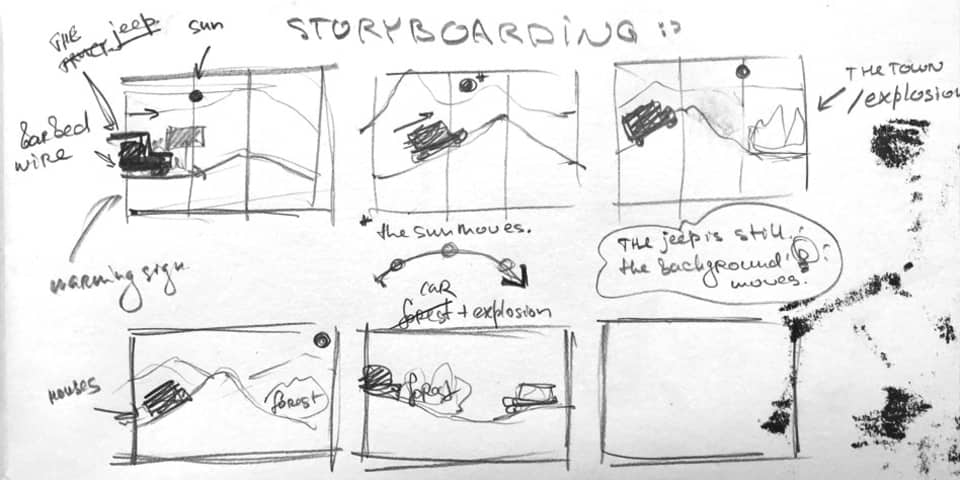 Animation and Illustration Portfolio Preparation Short Courses at London College of Communication - Image of story board