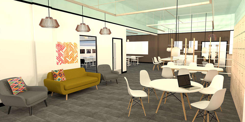 Vectorworks Short Course at London College of Communication - Image of Vectorworks image of room interior.