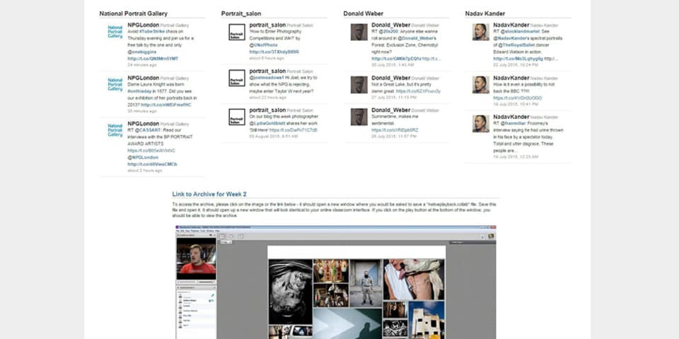 Image of online course classroom - Photography