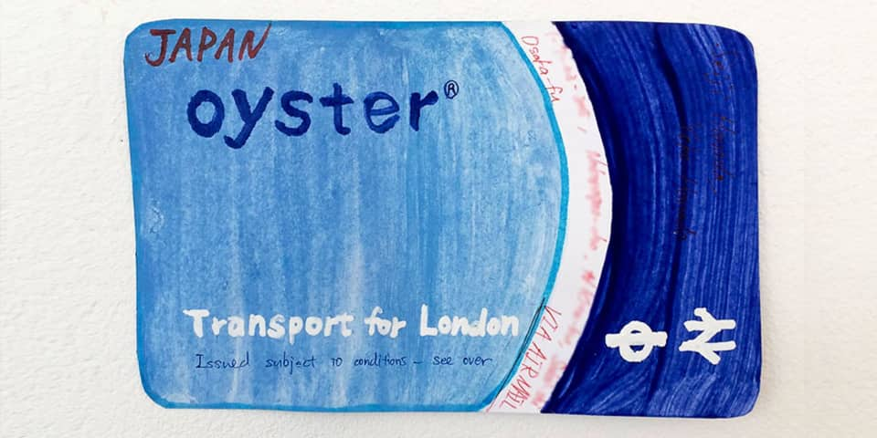 Study Visits for Schools and Universities - Bespoke training courses including team building activities and workshops at London College of Communication - image of hand drawn oyster card