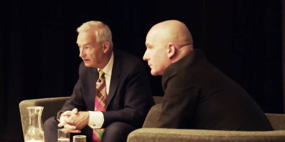 Channel 4 journalist and presenter Jon Snow was interviewed by Journalism and Publishing Programme Director Simon Hinde.