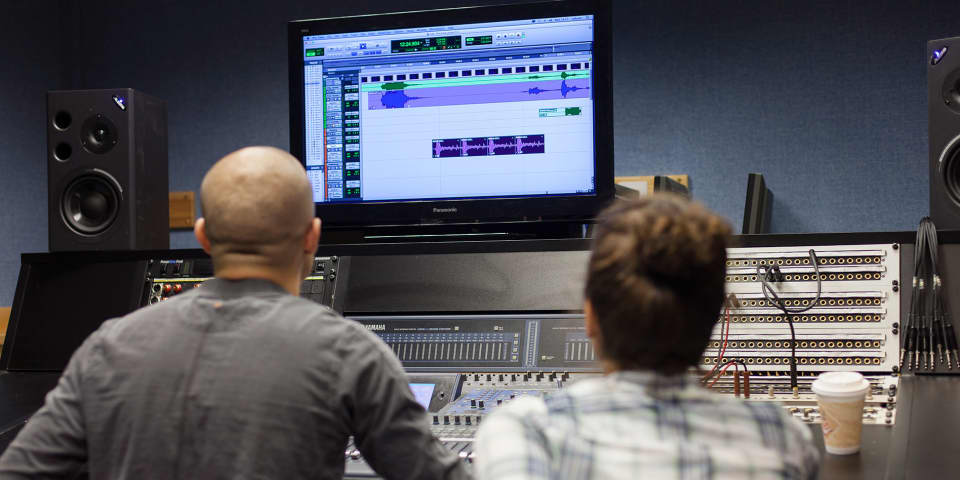 LCC sound arts facilities, sound recording, editing and mixing.