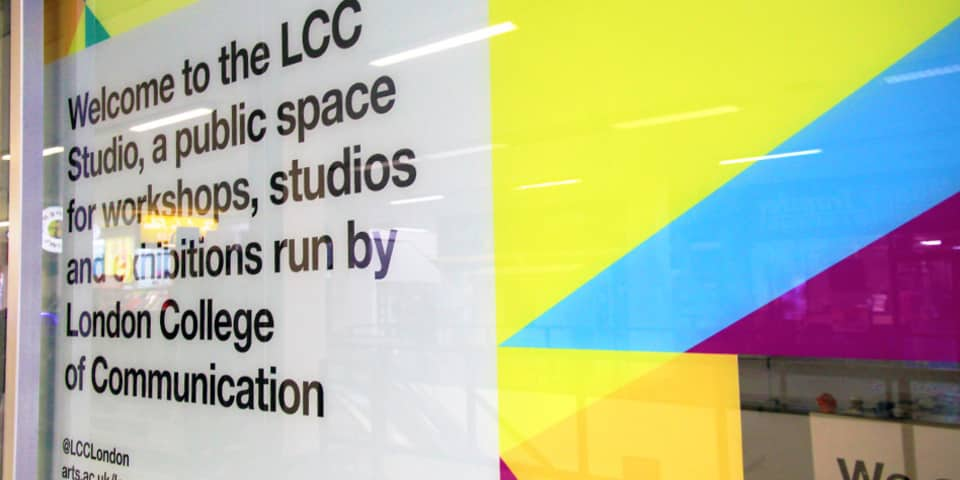 Signage from LCC Studio