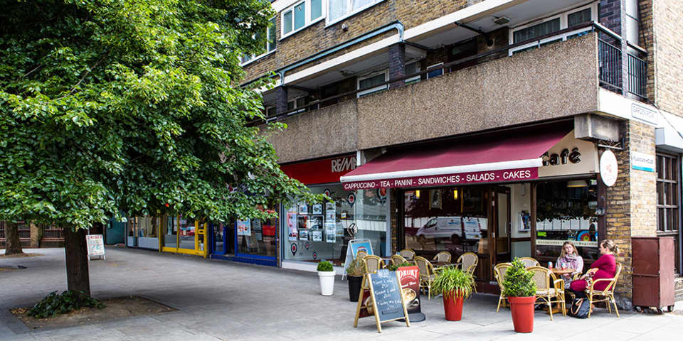 Image of the Art Cafe in Elephant and Castle.