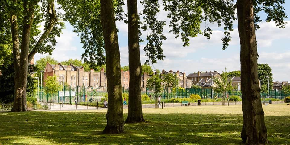Image of Geraldine Mary Harmsworth Park in Elephant & Castle.