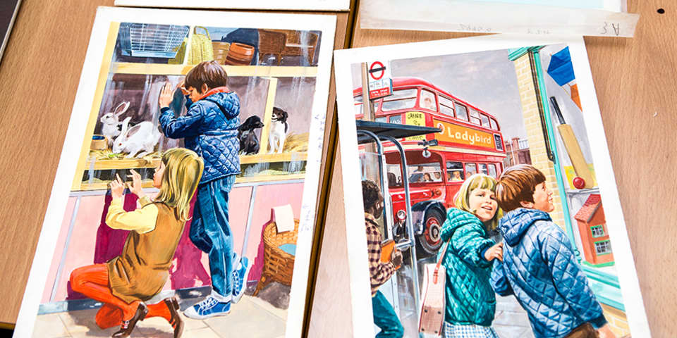 Reimagining Vintage Ladybird: Archive images from Ladybird children's books.