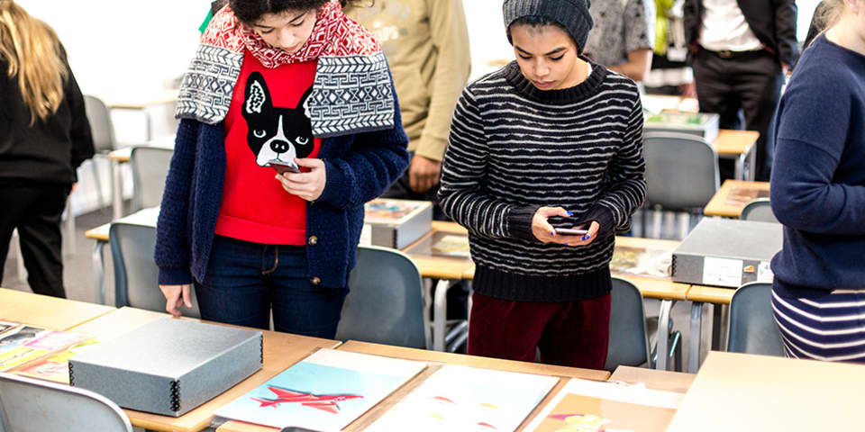 London College of Communication (LCC) students were given access to the Ladybird image archive.