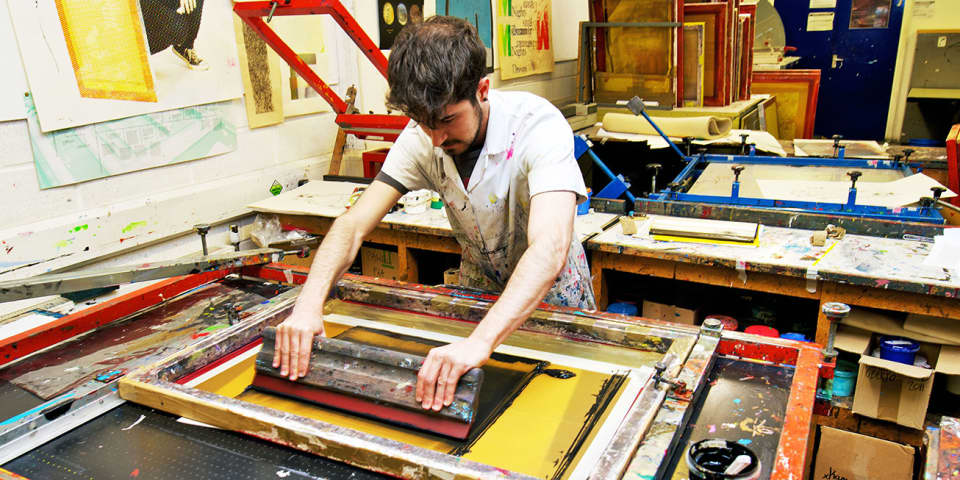 Printmaking Workshop, photo by Enrico Sacchetti
