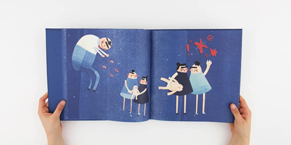 Image: Gabriella Mussurakis illustration book image 2, BA (Hons) Illustration and Visual Media