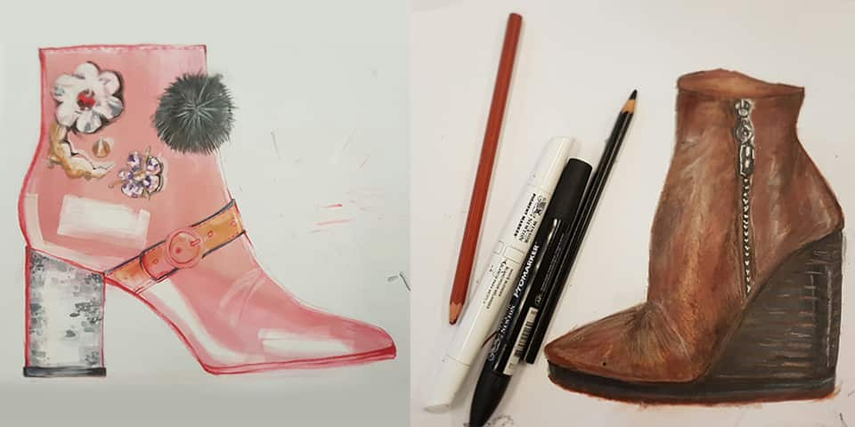 Fashion Drawing for Footwear and Accessories