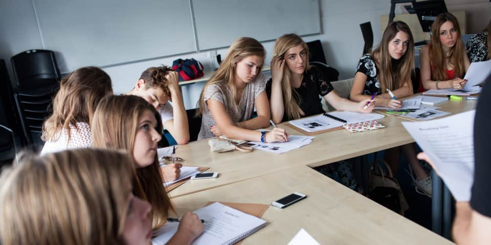 Fashion Journalism students in class