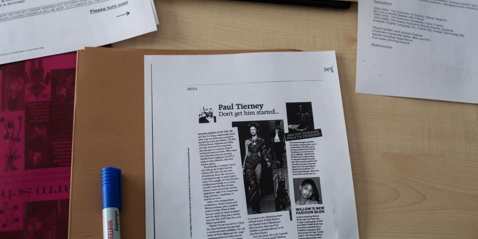 Fashion Journalism article in class