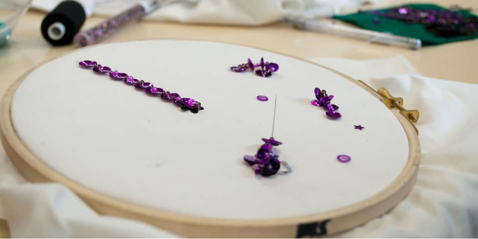 Fashion Design & Making: Student embellishment work