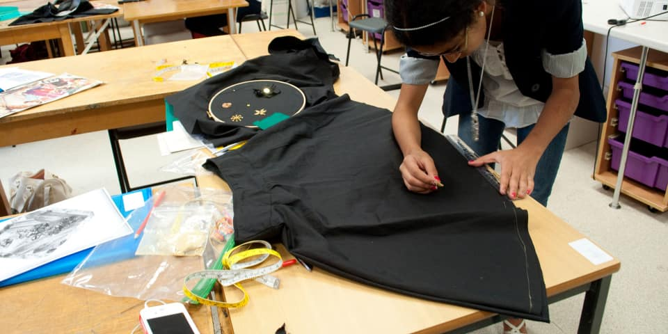 Fashion Design & Making: Student makes her own skirt