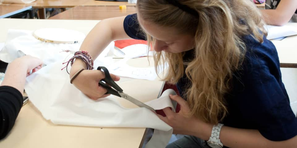 Fashion Design & Making: Student in class