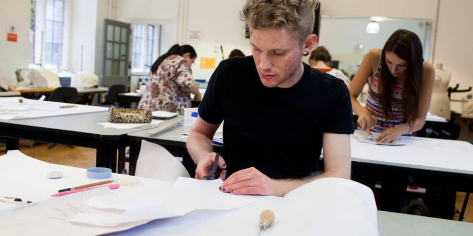 Fashion Design and Development: student in class