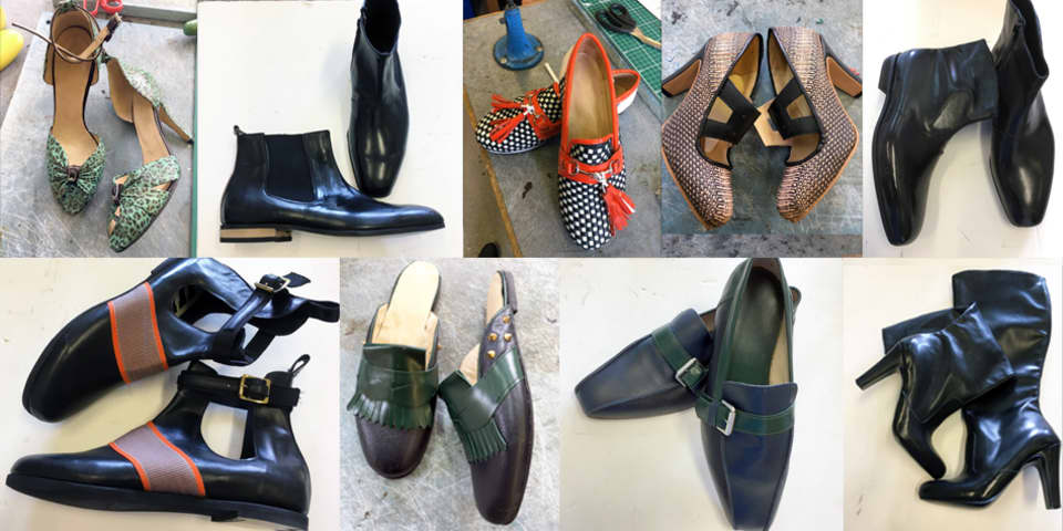 Mastering Footwear LCF short course - a selection of students' work
