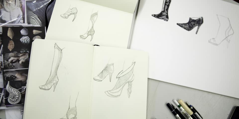 Footwear design sketches