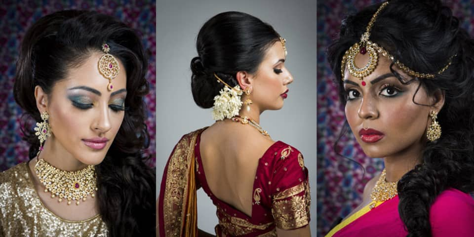 Asian Bridal Makeup and Hairstyling: Student work
