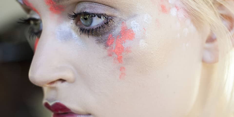 Example look from fashion and editorial makeup course: paintwork