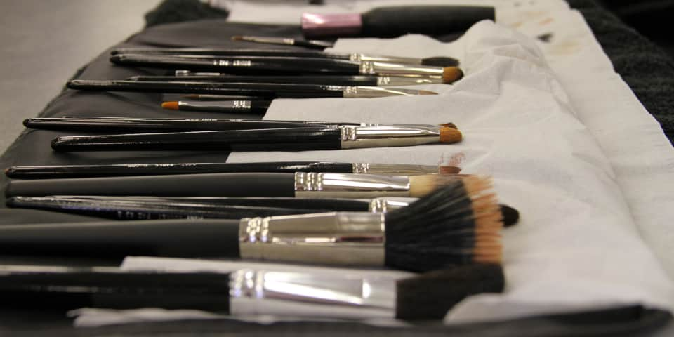 Makeup brushes for fashion and editorial makeup course