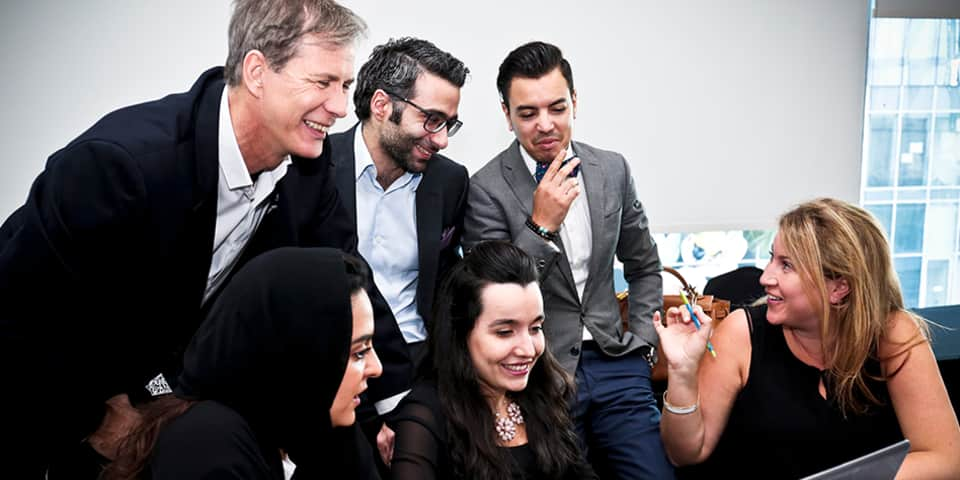 Course tutor Dr. Pascal Portanier, with students