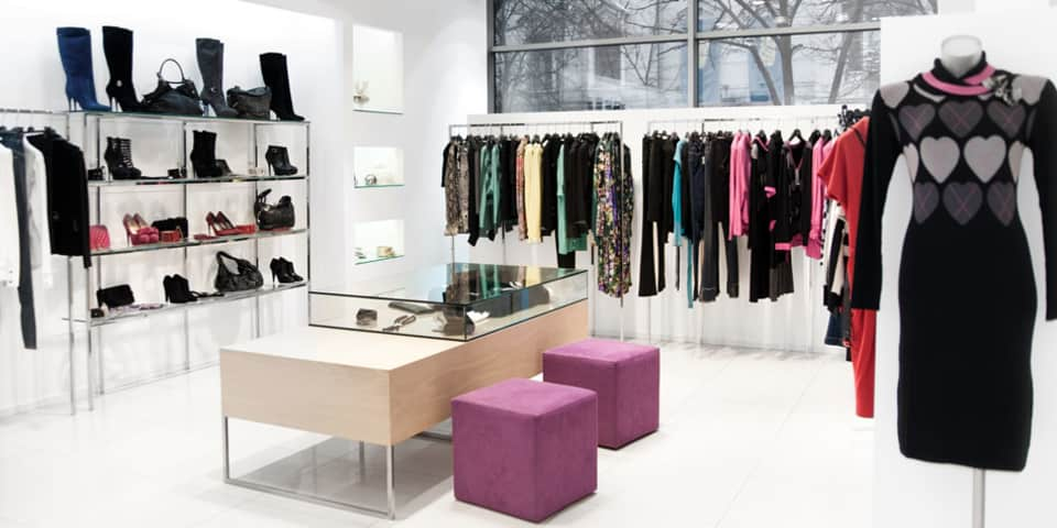 Business Planning for Fashion Retail. Fashion retail store interior.
