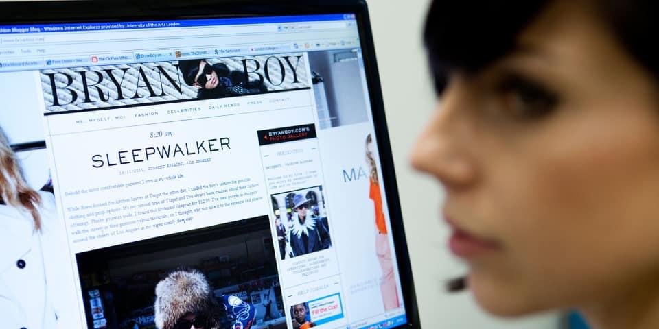 Social media: fashion blogs