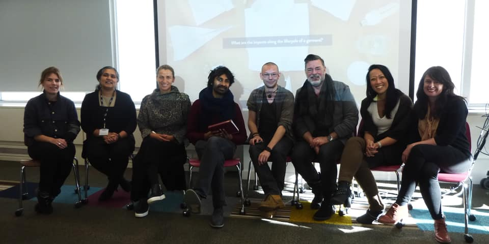 BA Fashion Marketing students. Ask the Experts Sustainable Fashion Panel, with representatives from Oitij-jo, Redress, Rainbow Collective, Crawford IT, Tengr
