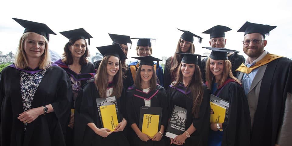 Students on graduation day.