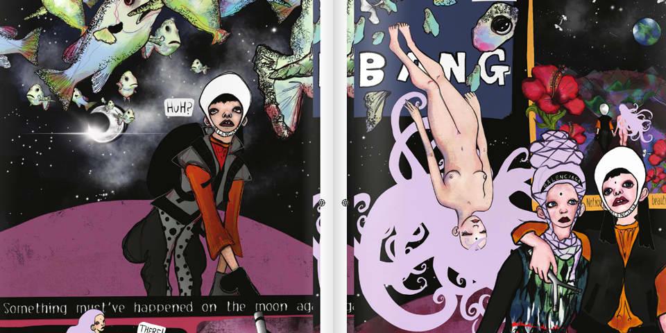 Comic book sheet.