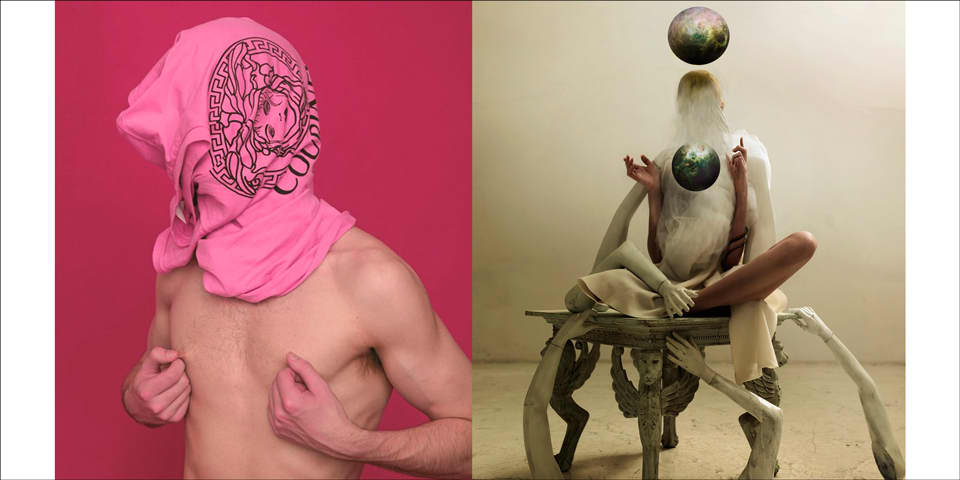 Two photographs by Daria Belkova and Eric Phillips