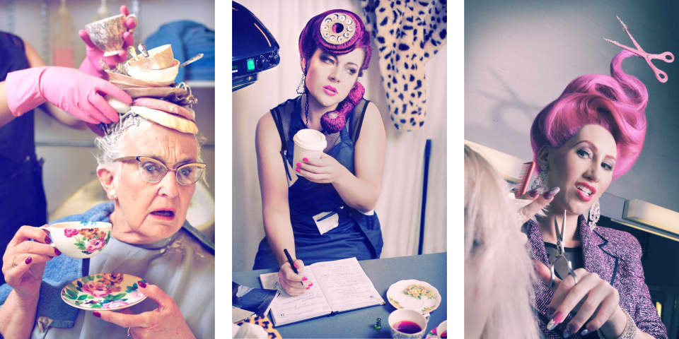 Hair and make-up by BA (Hons) Hair, Make Up and Prosthetics for Performance student Francesca Jordan