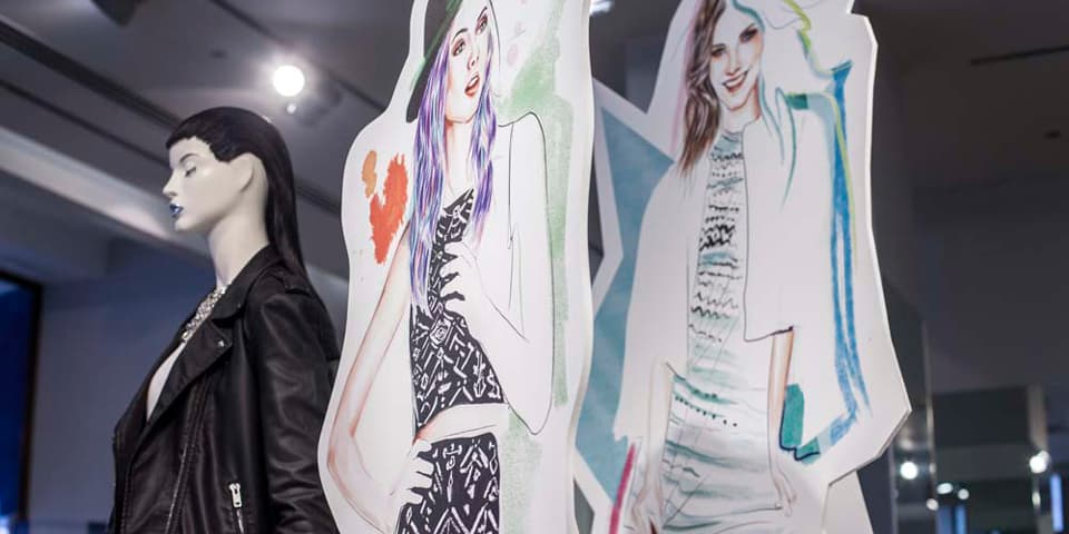 H&M window display by BA (Hons) Fashion Illustration Students