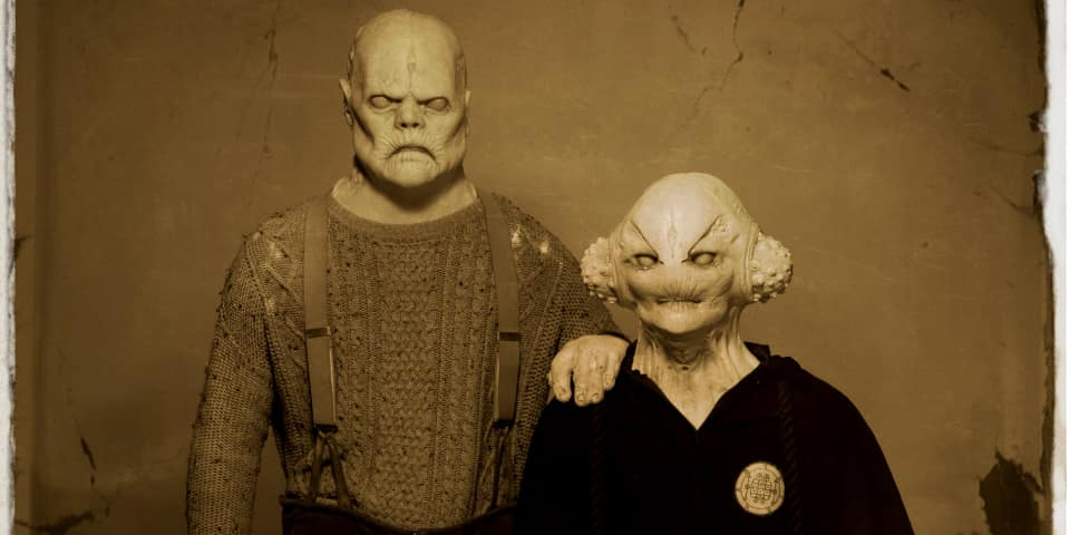 Alien head prosthetics