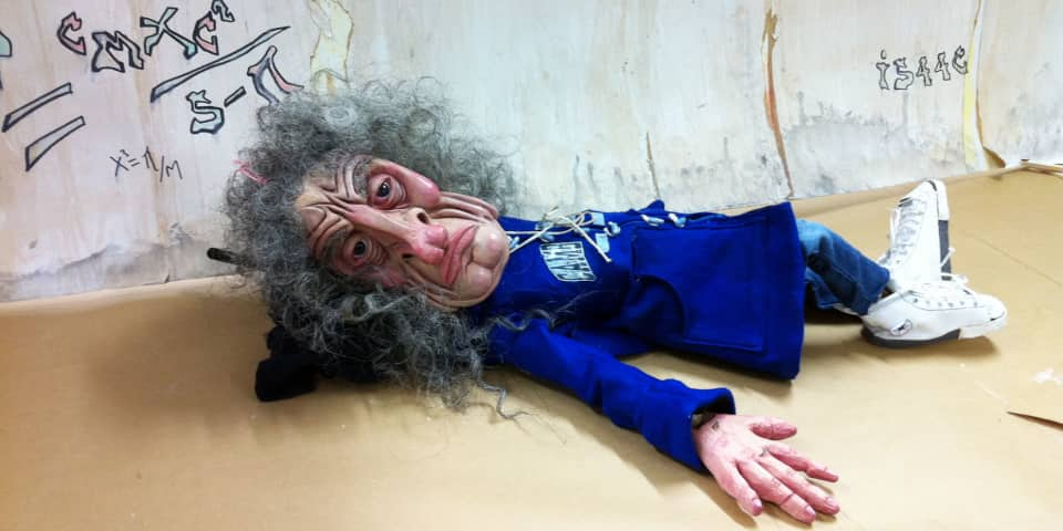 Issac Newton puppet by Sophie Langsford