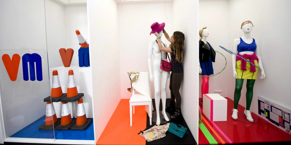 A visual merchandising studio at our John Prince's Street site