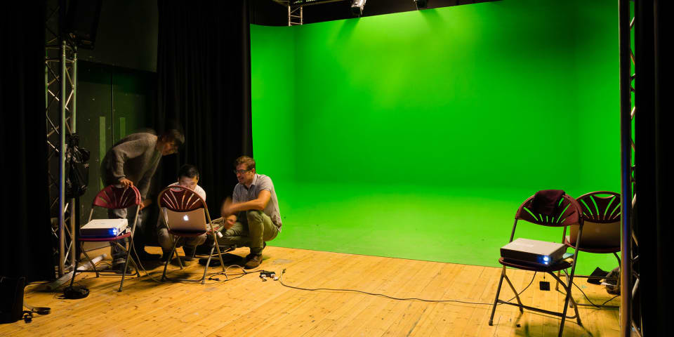 Wimbledon green screen room