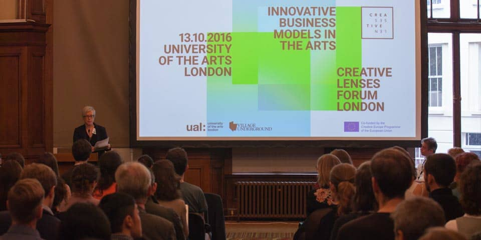 Lucy Kimbell opens the Creative Lenses London, November 2016