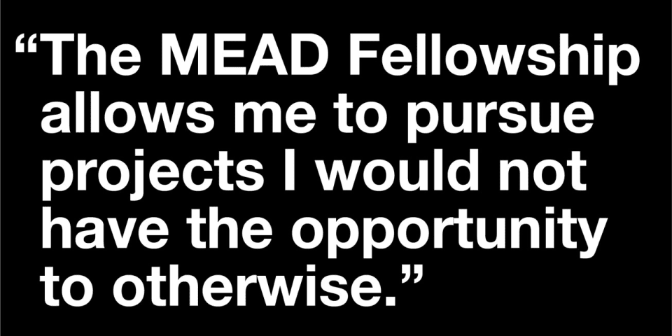 Quote from MEAD Fellowship awardee Iyvonne Khoo